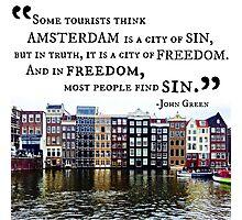 Amsterdam John Green Quote Photographic Print