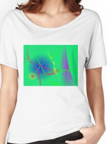 Abstract Green Planet Art Women's Relaxed Fit T-Shirt