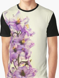 Purple Larkspur Delphinium Graphic T-Shirt