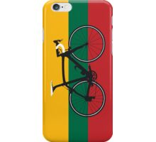 Bike Flag Lithuania (Big - Highlight) iPhone Case/Skin