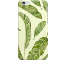 pattern with banana leaves iPhone Case/Skin