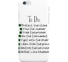Harry Potter Checklist iPhone Case/Skin