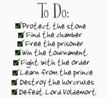 Harry Potter Checklist by aimeedraper