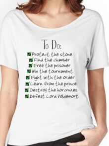 Harry Potter Checklist Women's Relaxed Fit T-Shirt