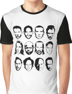 Prison Break- Michael, Sucre, Lincoln, T-bag, Sara, C-note, Abruzzi, Tweener, Haywire, Mahone, Bellick & Kellerman Graphic T-Shirt