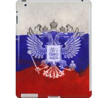 Russia Flag Paint Grunge Design iPad Case/Skin