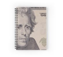 portrait of the American president  Jackson Spiral Notebook