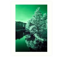 Infra-Red River Art Print