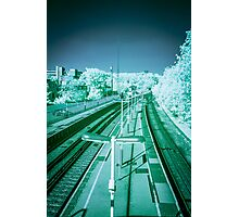 Infra-Red Train Station Photographic Print