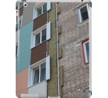 Thermal insulation of a house wall iPad Case/Skin