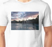 Dancing Jets and Music Sunset - Plovdiv Singing Fountains Unisex T-Shirt