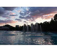 Dancing Jets and Music Sunset - Plovdiv Singing Fountains Photographic Print
