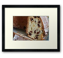 Cupcake with raisins  Framed Print
