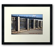 promenade old cast iron fence  Framed Print