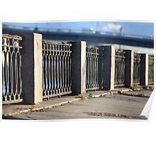 promenade old cast iron fence  Poster