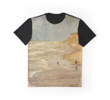 Beach walk by the ocean vintage looking Graphic T-Shirt