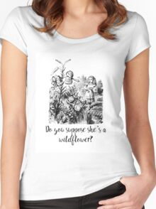Do you suppose she's a wildflower? Original illustration.  Women's Fitted Scoop T-Shirt