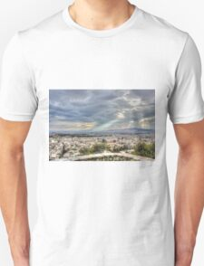 Sunbeams over the City in HDR Unisex T-Shirt
