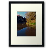 Romantic evening at the pond | waterscape photography Framed Print