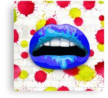 Blue Lips Canvas Print