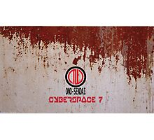Ono-Sendai Cyberspace 7 - Rusty Steel Background II Photographic Print