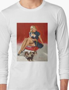 Gil Elvgren Appreciation T-Shirt no. 11. Long Sleeve T-Shirt