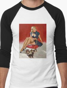 Gil Elvgren Appreciation T-Shirt no. 11. Men's Baseball ¾ T-Shirt