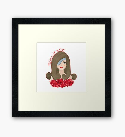 Rose of May Framed Print