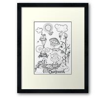 Living room - Magical home Framed Print