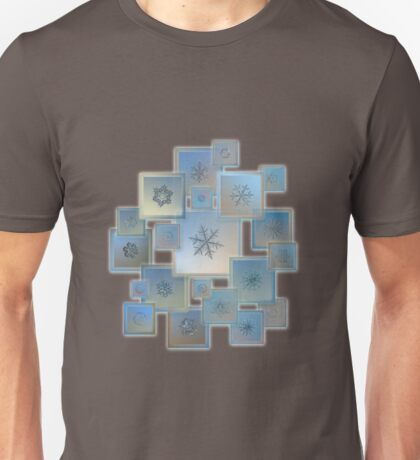Snowflake collage - Bright crystals 2012-2014 Unisex T-Shirt