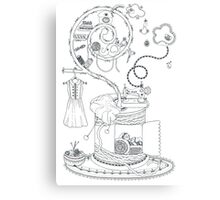 Sewing studio - Magical home Canvas Print