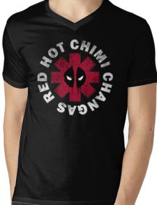Red Hot Chimichangas Mens V-Neck T-Shirt