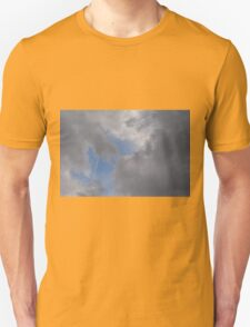 Fluffy stormy clouds. Unisex T-Shirt