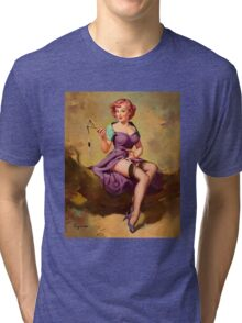 Gil Elvgren Appreciation T-Shirt no. 15. Tri-blend T-Shirt