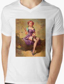 Gil Elvgren Appreciation T-Shirt no. 15. Mens V-Neck T-Shirt