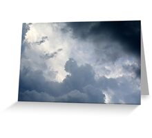 Fluffy stormy clouds. Greeting Card
