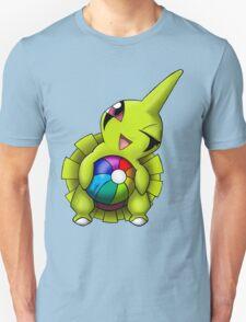 Shiny Larvitar w/ Beach Ball Unisex T-Shirt