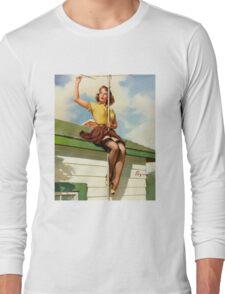 Gil Elvgren Appreciation T-Shirt no. 16. Long Sleeve T-Shirt