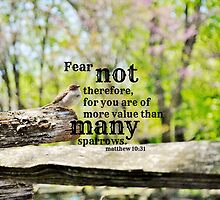 Fear Not Matthew 10 by Kimberose
