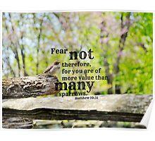 Fear Not Matthew 10 Poster