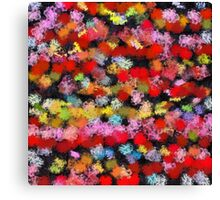 Colorful brush strokes Canvas Print