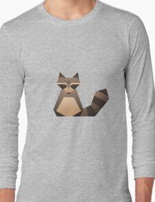 Vector Raccoon  Long Sleeve T-Shirt