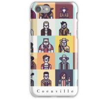 Coenville (w/ black lettering) iPhone Case/Skin