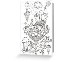Kids room - Life in flowers Greeting Card