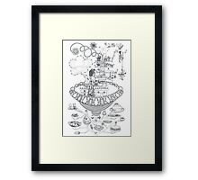 Kitchen - Life in flowers Framed Print