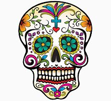 Mexican Skull Blue Cross Women's Fitted V-Neck T-Shirt