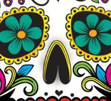 Mexican Skull Blue Cross Sticker