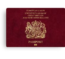 United Kingdom Passport Vintage Canvas Print