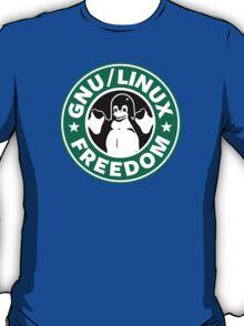 GNU Linux Starbucks logo penguin parody T-Shirt