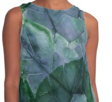 Blue Leaves  Contrast Tank